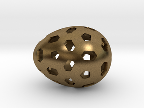 Mosaic Egg #1 in Natural Bronze