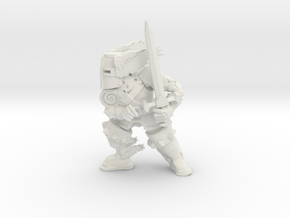 Winged Knight in White Natural Versatile Plastic