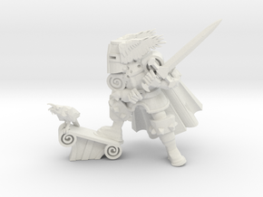 Winged Knight 2 in White Natural Versatile Plastic