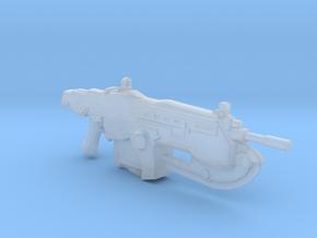 Gears Of War Assault Rifle Lancer 1:6 in Smooth Fine Detail Plastic