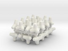 Concrete Tetrapod (x32) 1/160 in White Natural Versatile Plastic