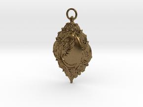 Phoenix Rising Pendant in Natural Bronze