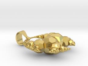 Mini Solid Kleinian Fractal  in Polished Brass
