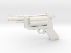 Revolver v1 in White Natural Versatile Plastic