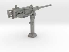 1/24 M2 Browning machinegun WW2 tank mount in Gray PA12