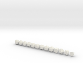 Archimedean Solids - 1 Inch - Normal in White Natural Versatile Plastic