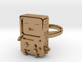 BMO Ring (Medium) in Polished Brass