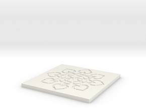 Leaf coaster 1 in White Natural Versatile Plastic