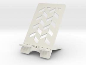 Modeling phone holder in White Natural Versatile Plastic