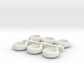 Front Turn Signal Multiples (Small Axial Lens) in White Natural Versatile Plastic
