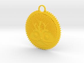 Tree of Life Pendant in Yellow Processed Versatile Plastic