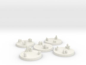 40mm Crystal Cluster Bases in White Natural Versatile Plastic