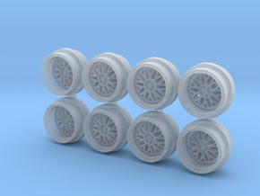 Meister M1 7-5 Hot Wheels Rims in Smooth Fine Detail Plastic