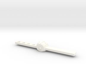 Watch in White Processed Versatile Plastic