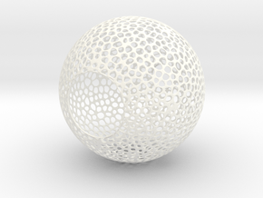 Lampshade (Sphere Vero 3) in White Strong & Flexible Polished
