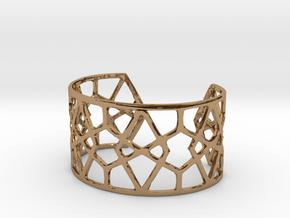 Egyptian Cuff Bracelet in Polished Brass
