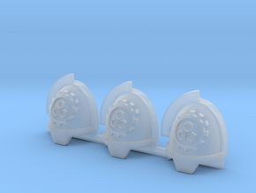 Steel Handed Warriors 3rd clan Gravus pads x3 #3 L in Smooth Fine Detail Plastic