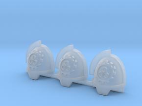 Steel Handed Warriors 3rd clan Gravus pads x3 #3 L in Smooth Fine Detail Plastic
