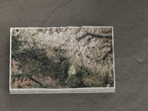 Beartooth Mtns, Montana/Wyoming, USA, 1:500000 in Natural Full Color Sandstone
