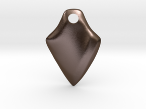 Twisted Thicc Pick ~1.7mm (DOWN twist) Wrist-Saver in Polished Bronze Steel