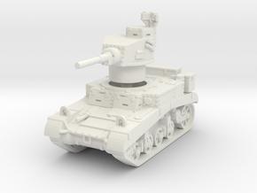 M3 Stuart early UK 1/87 in White Natural Versatile Plastic