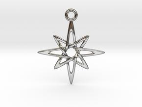 Grandma Star in Polished Silver
