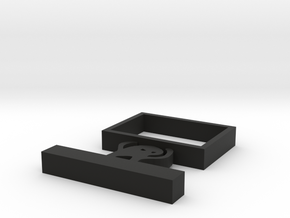 Angry cat shelf in Black Natural Versatile Plastic: Small