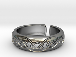 Seven hearts [ring] in Polished Silver
