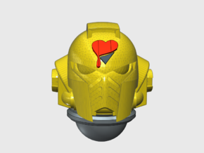 10x Lamented Heart - G:10 Prime Helmets  in Smooth Fine Detail Plastic