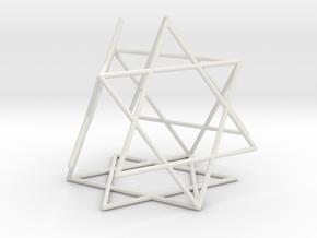 Star-of-David Tetrahedron in White Natural Versatile Plastic: Large