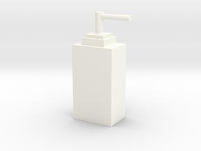 客製化瓶子 ( 方形 ) in White Processed Versatile Plastic