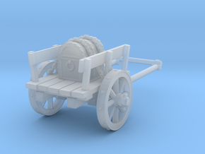 2-wheel cart with chest, 28mm in Smooth Fine Detail Plastic