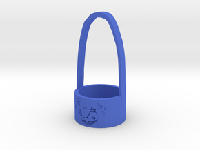 Whale Waterproof Cup Sleeve in Blue Processed Versatile Plastic