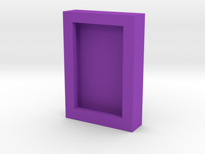 Obsidian Door Photo Frame in Purple Processed Versatile Plastic