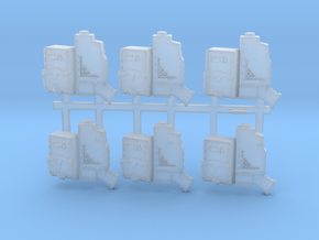 6 pistol holsters for space viking wolf marines in Smooth Fine Detail Plastic