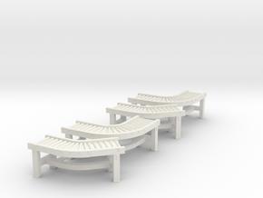 Roller Conveyor 45°-90° (x4) 1/87 in White Natural Versatile Plastic