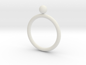 Rings in White Natural Versatile Plastic