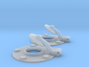1/10 Tiger 1 muffler flapper open version in Smooth Fine Detail Plastic