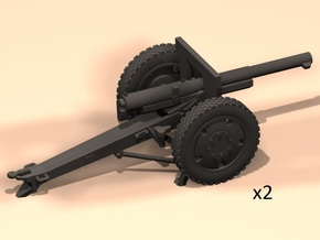 1/87 French cannon 75mm 1897/1940 in Smooth Fine Detail Plastic