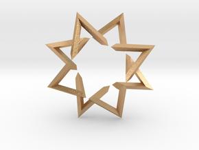 Regular 3D Polygon: (+++---)^4-rotated (medium) in Natural Bronze