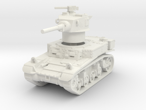 M3A1 Stuart early 1/87 in White Natural Versatile Plastic