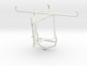 Controller mount for PS4 & T-Mobile REVVL 5G - Top in White Natural Versatile Plastic