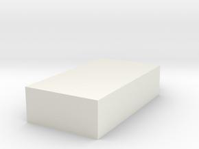 Cat paw B in White Natural Versatile Plastic: Small