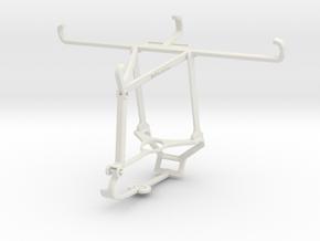 Controller mount for Steam & T-Mobile REVVL 5G - T in White Natural Versatile Plastic