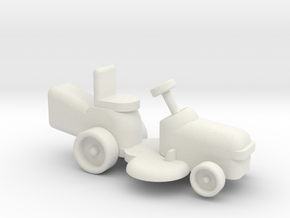 Riding Lawn Mower 1-87 HO Scale in White Natural Versatile Plastic