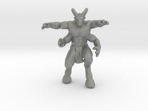 Golden Axe Four Armed Goat miniature model dnd rpg in Gray PA12