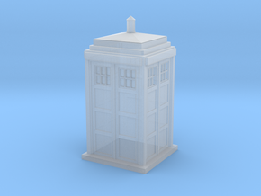 Tardis HO/OO scale in Smoothest Fine Detail Plastic
