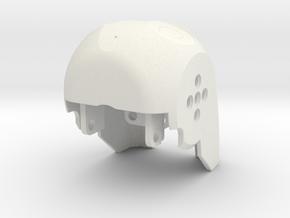 Darwin Mini Head in White Natural Versatile Plastic