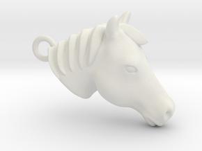 Horse head 2012162154 in White Natural Versatile Plastic
