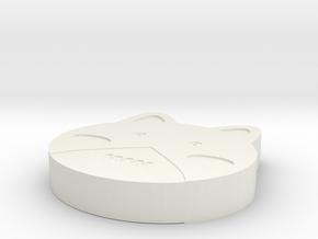 Cat Jewelry in White Natural Versatile Plastic: Small